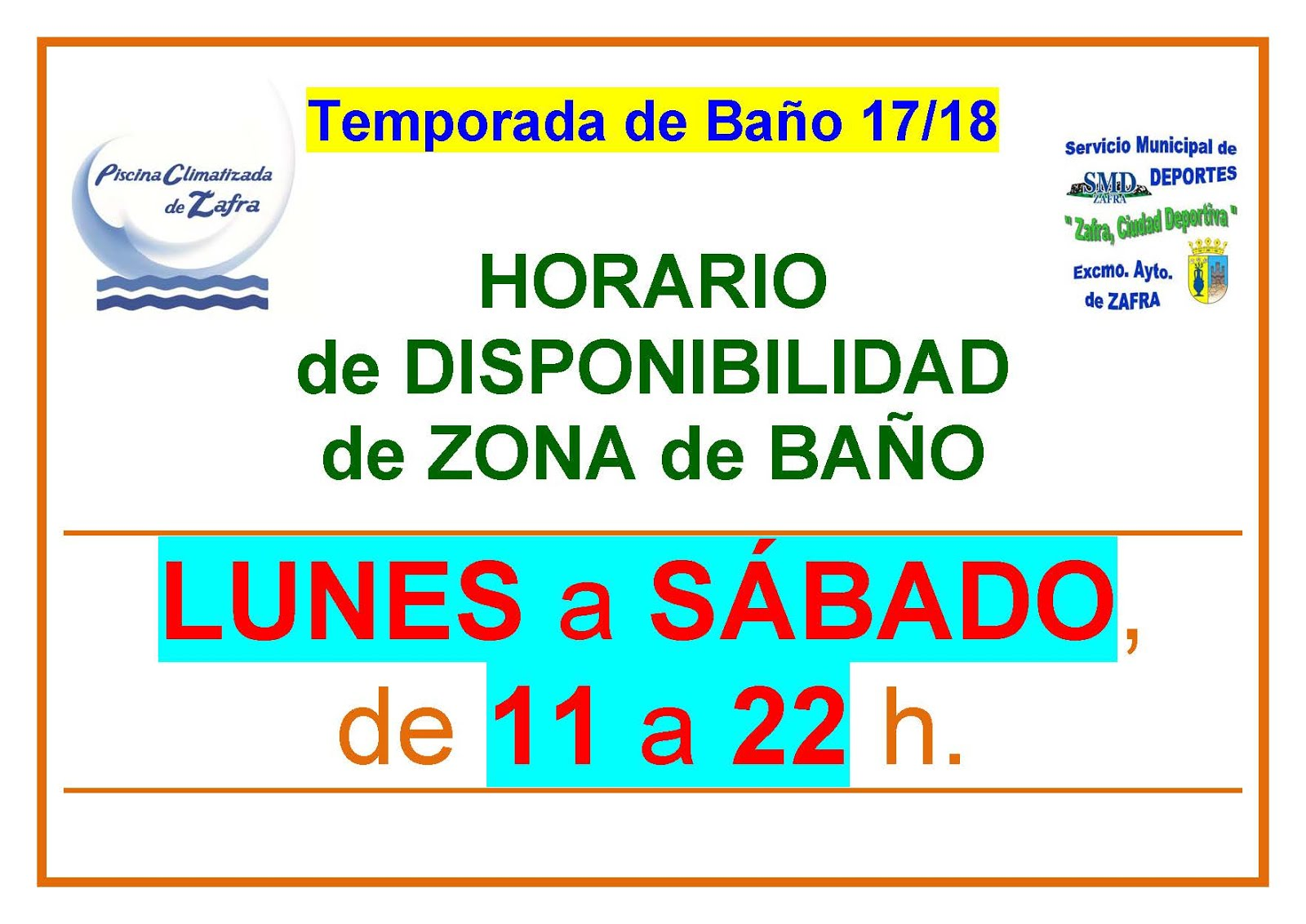 PMCC - HORARIO_DISPONIBILIDAD de la ZONA_de_BAÑO