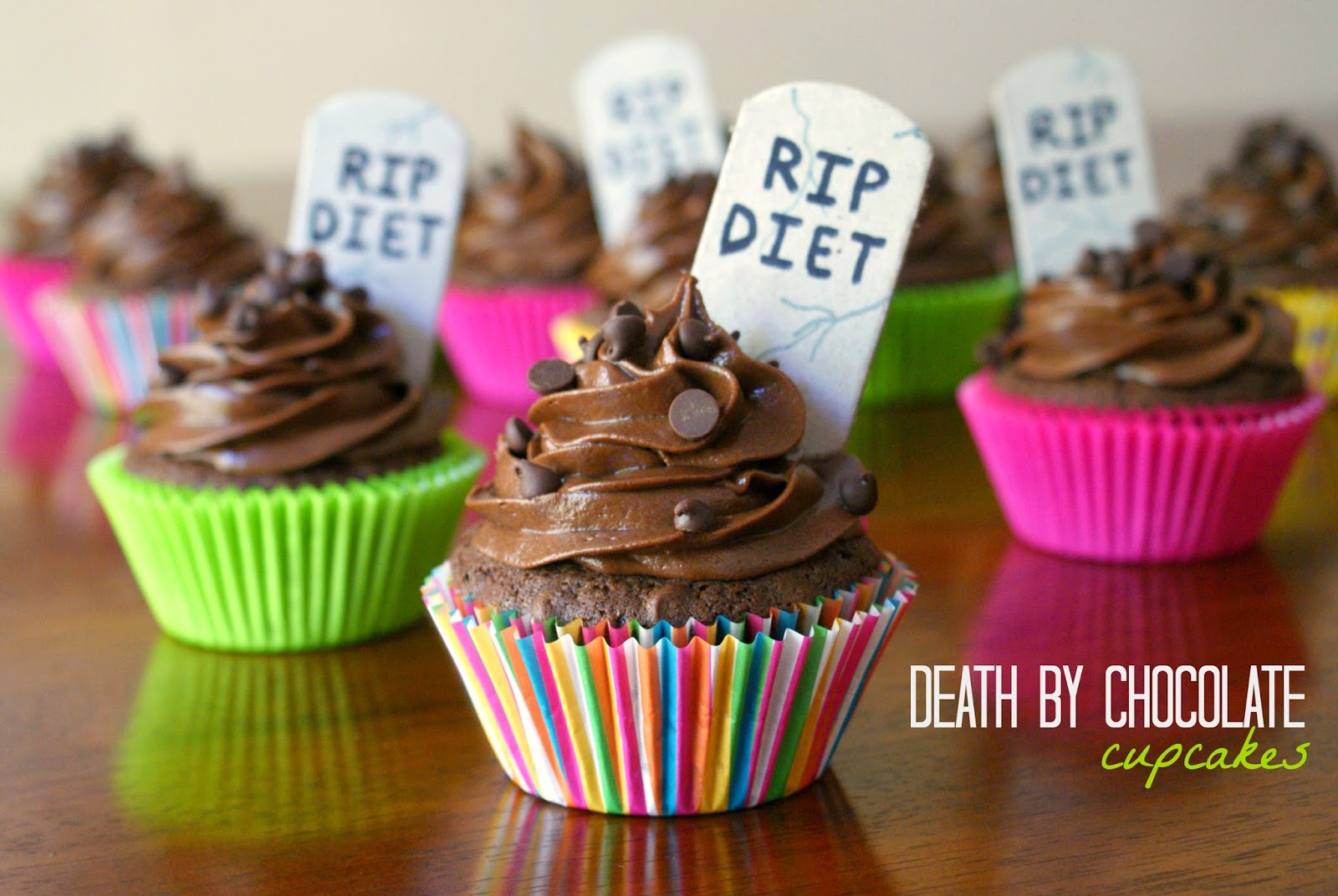 Death by Chocolate Cupcakes with a decadent Chocolate Cream Cheese Frosting