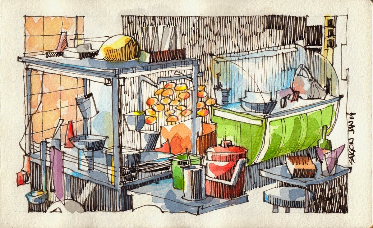 13-Street-Vendor-Jorge-Royan-Drawings-Sketches-of-Travel-Logs-www-designstack-co