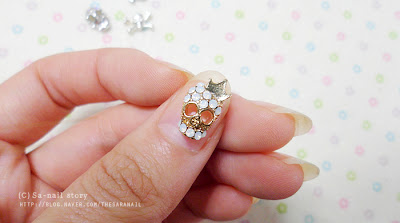 Skulls can be Cute!  Skull Nail Deco Parts, Skull Nail Parts