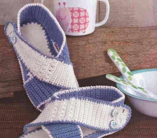 Sandalias Infantiles a Crochet o Ganchillo