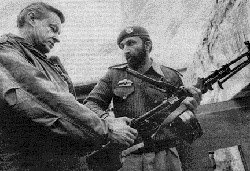 Zbigniew Brzezinski and his protegee Osama bin Laden. Brzezinski engineered the  rise of the jihad and eventually the Taliban in Afghanistan to use as a weapon against  the Soviet Union.