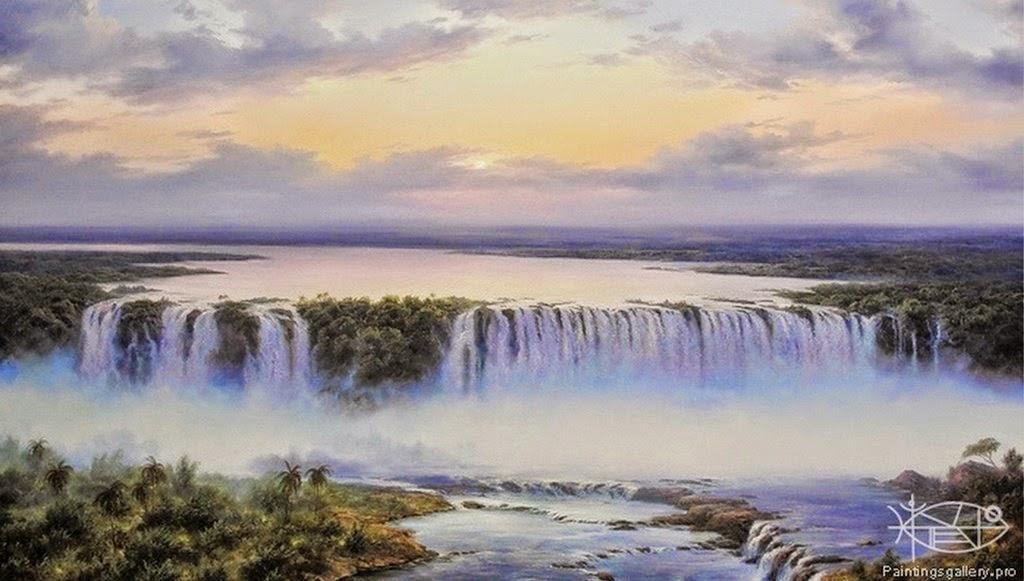 pinturas-paisajes-con-cascadas