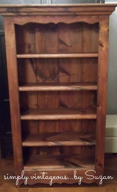 paint, bookcase, knotty pine