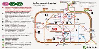 BVG + S-Bahn: BVG-Linien bieten Umfahrungsmöglichkeiten für den gesperrten Abschnitt der S-Bahn