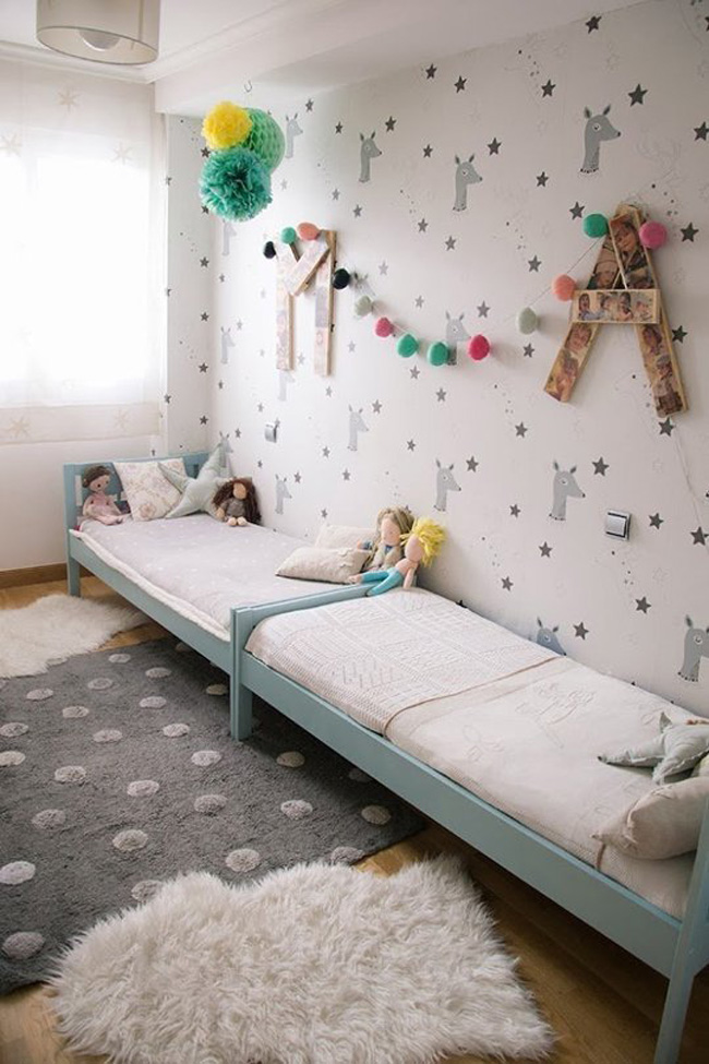 Mcompany style ideas tiles para amueblar una habitaci n - Camas para dos hermanos ...