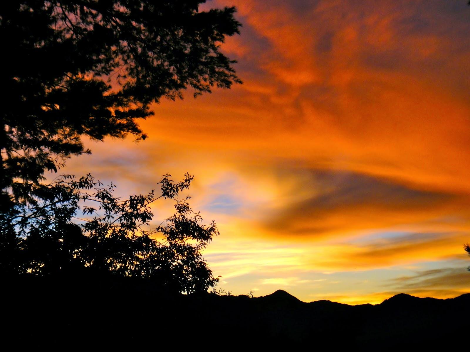 Alishan Sunrise Orange Sky