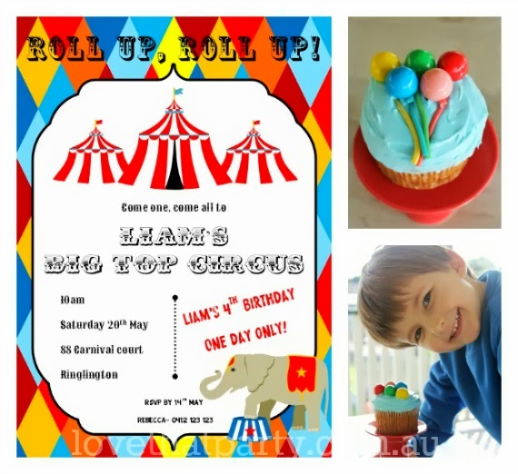 sumple birthday cake, cake decorating, balloon cupcake, circus party ideas