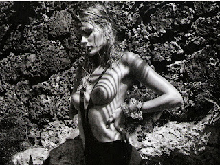 Edita Vilkeviciute topless in Vogue 2012 March Spain UHQ