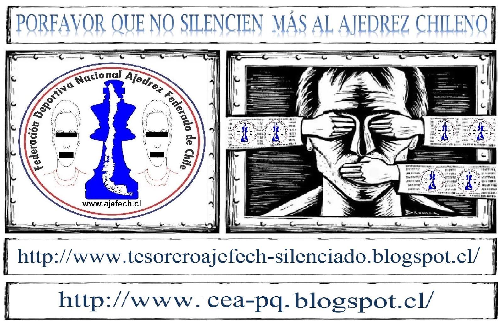 ESTAMOS EN PRESENCIA DE UNA DICTADURA (FEDERACION DE AJEDREZ DE CHILE)