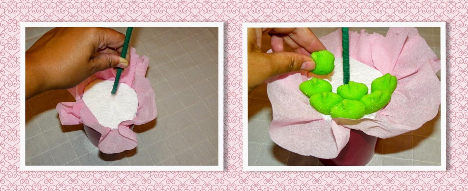 Blog magiasweet como hacer un arbolito de chuches para for Envolver brochetas de chuches