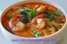 resep praktis dan mudah membuat (memasak) masakan sup udang spesial khas jepara enak, lezat