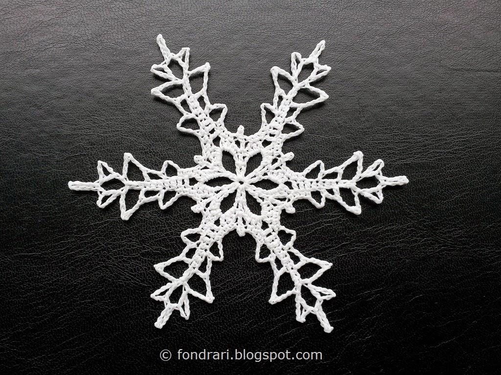 Teocalli Snowflake - heklað snjókorn