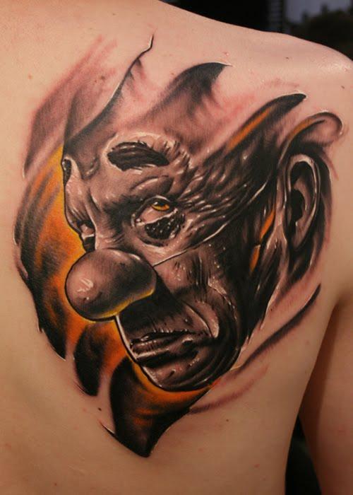 Make tatttoos design clown tattoo design artistic for Clown tattoos for men