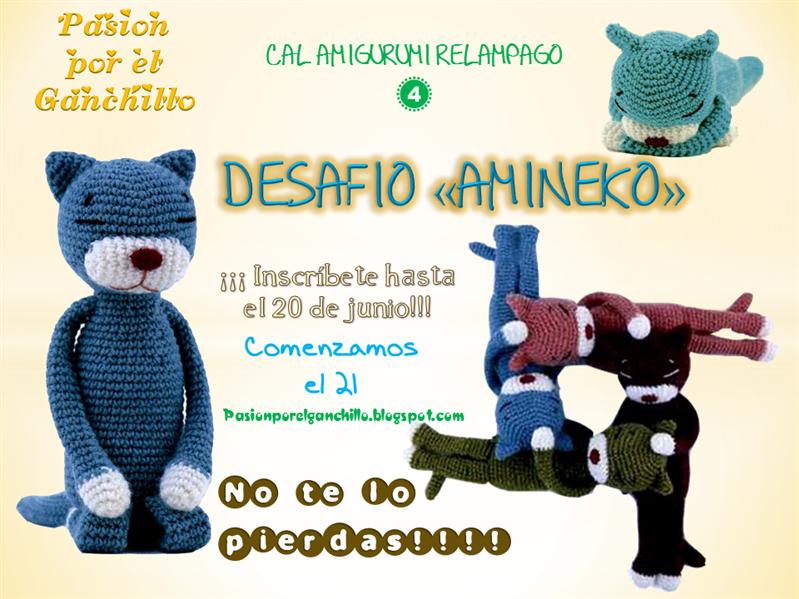 Cal Amigurumi Relampago 4 - Desafío Amineko