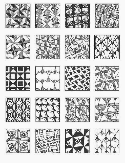 Zentangle rustgevend tekenen zentangle voorbeelden for Zentangle tile template