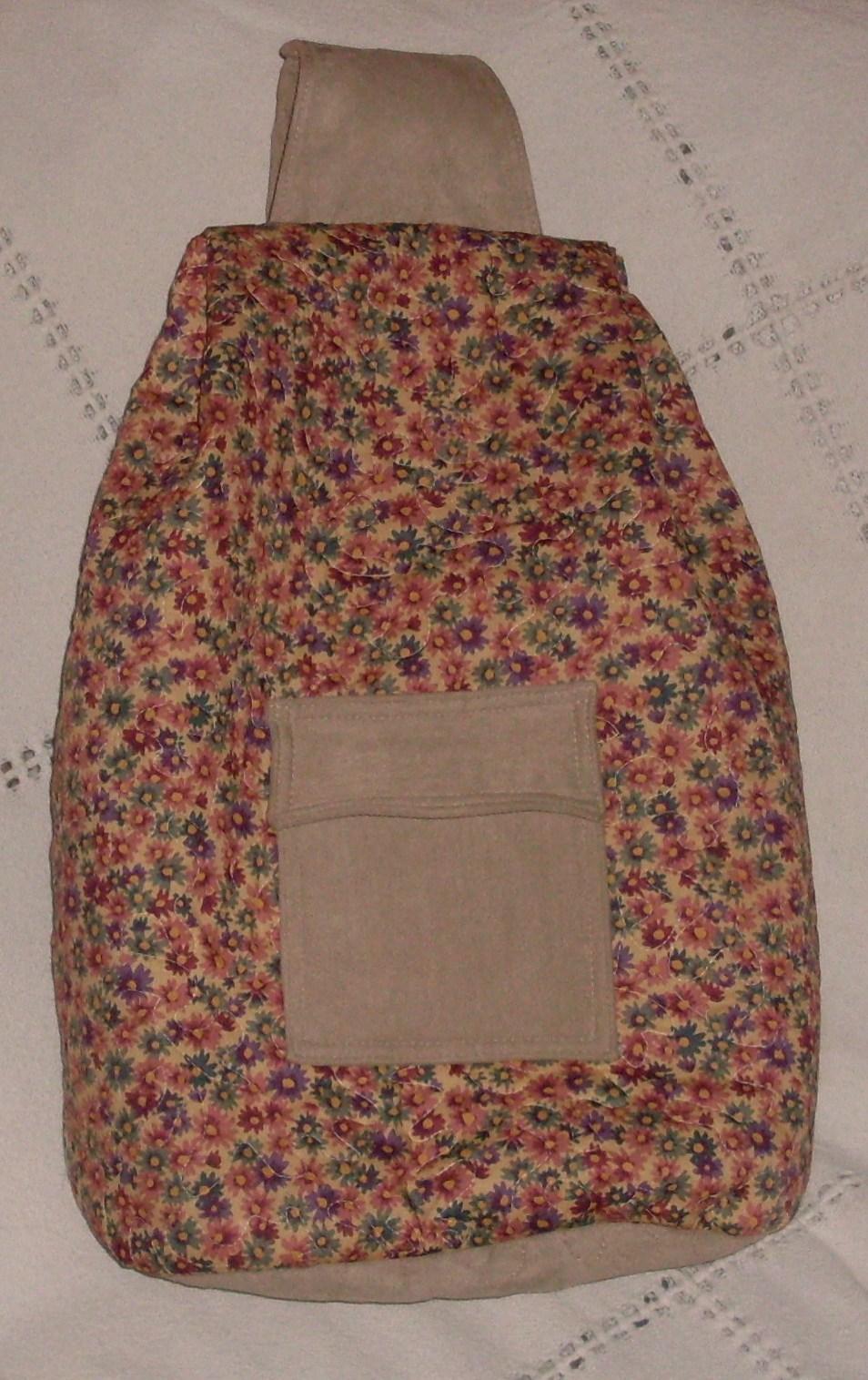 Bolsa De Tecido Forrada : Ateli? da binho bolsa mochila flor