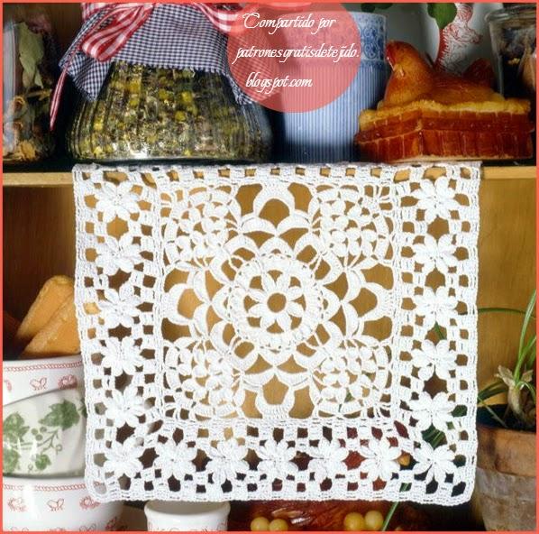 Carpeta cuadrada al crochet
