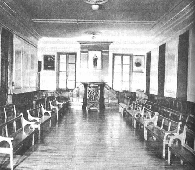 Sala do noviciado onde Santa Bernadette recebeu sua missão na Ordem
