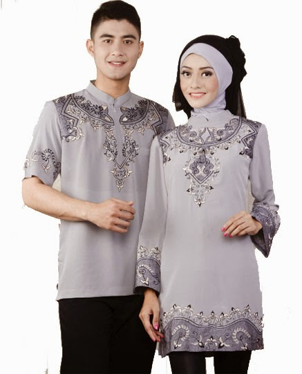 Gambar busana muslim couple sederhana