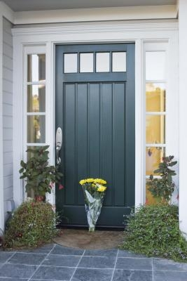 First impressions and what your front door and what it Front door color ideas for beige house