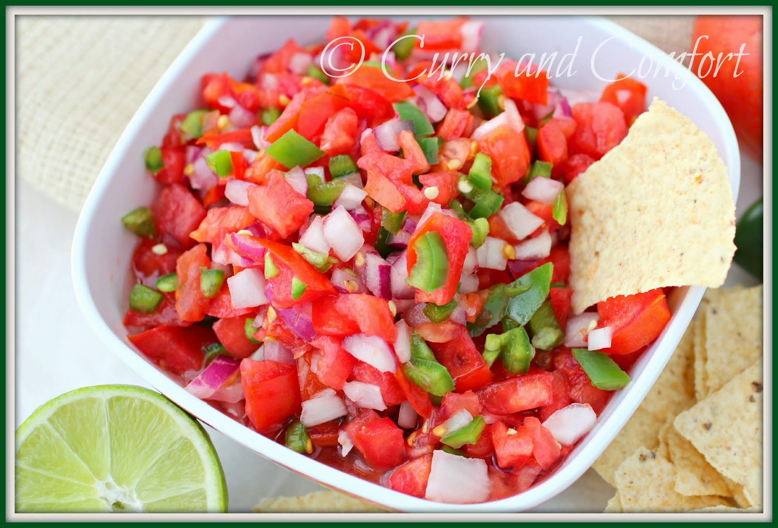 Kitchen Simmer: Pico de Gallo (Fresh Tomato Salsa)