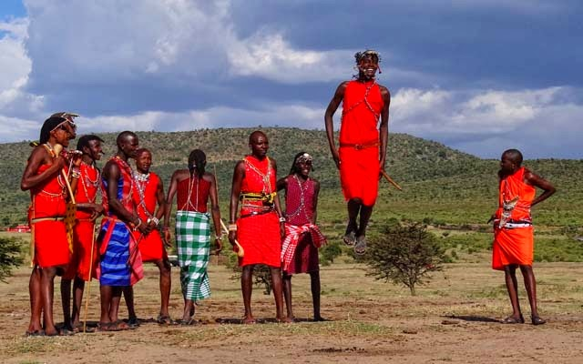 I was recently told of an African tribe that does the most beautiful thing. - Mara Young Men Jumping 2012