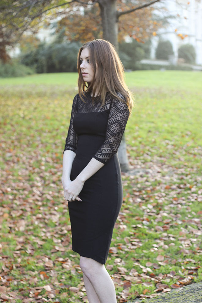 Christmas Hybrid Lace Pencil Dress - Uk Fashion Blogger
