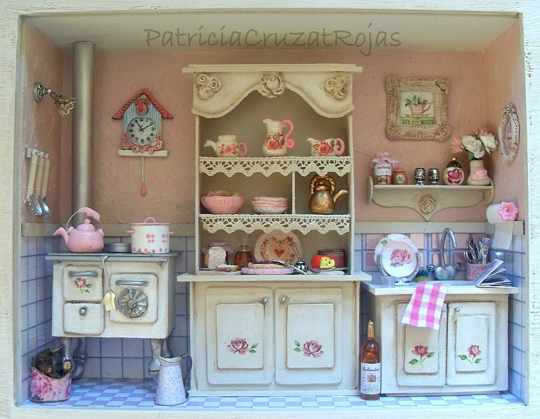 Patricia cruzat artesania y color cocina rom ntica estilo - Cocinas estilo shabby chic ...
