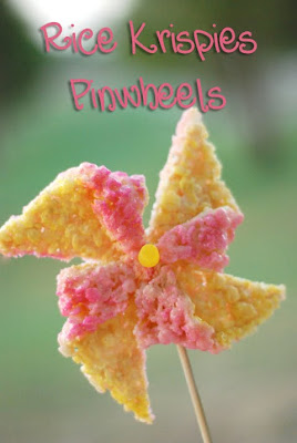 food gifts: rice krispies treat pinwheels tutorial