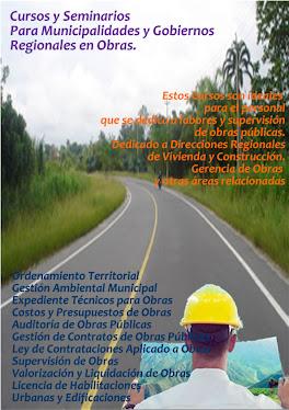 CURSOS PARA SUPERVISORES DE OBRAS MUNICIPIOS Y GOBIERNOS REGIONALES