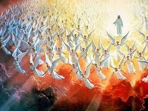 E o sétimo anjo tocou a sua trombeta, e houve no céu grandes vozes, que diziam: Os reinos do mundo vieram a ser de nosso Senhor e do seu Cristo, e ele reinará para todo o sempre. E os vinte e quatro anciãos, que estão assentados em seus tronos diante de Deus, prostraram-se sobre seus rostos e adoraram a Deus, Dizendo: Graças te damos, Senhor Deus Todo-Poderoso, que és, e que eras, e que hás de vir, que tomaste o teu grande poder, e reinaste.