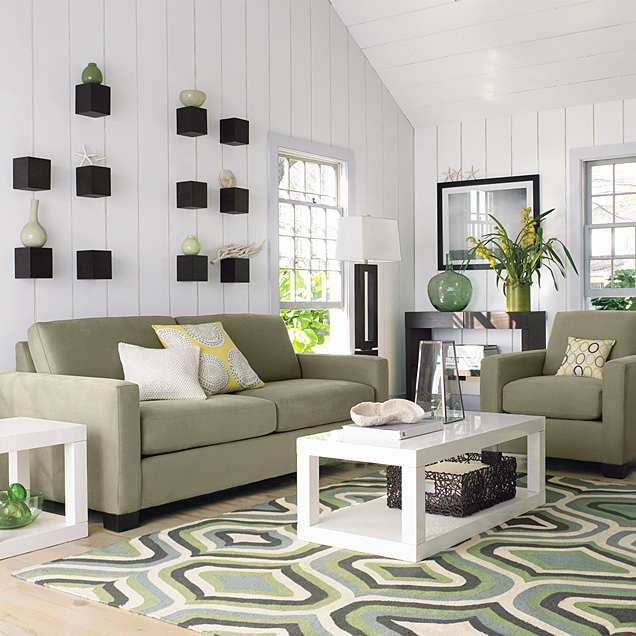Living room decorating design carpet or rug for living for Ideas for furnishing living room