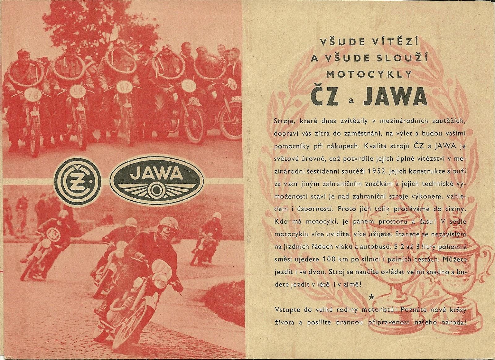 Ulotka reklamowa Jawa