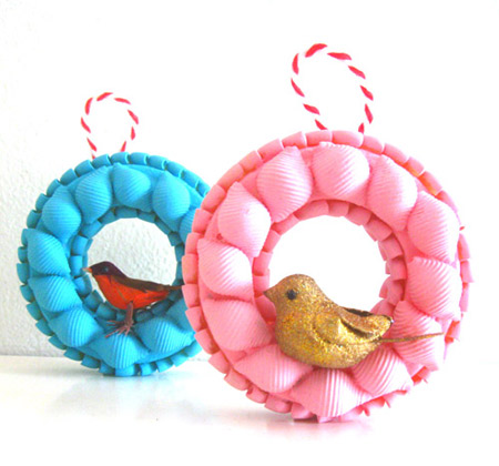 Mod and Mint: Easy Craft Tutorial - Christmas bird ornaments