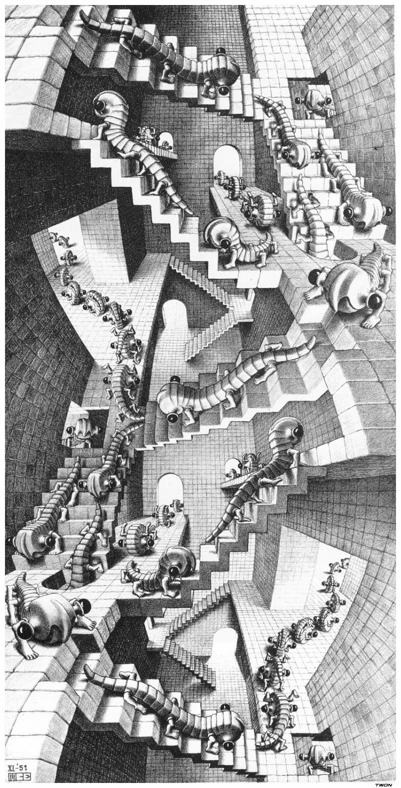 the life and art of mc escher The web site to explore the great mc escher artworks  a vitally important figure in escher's life and work  'mc escher: art and science',.