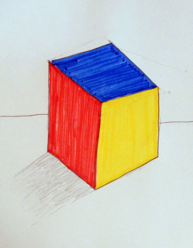 The Club House Artists Were Given Task Of Drawing A Cube And Coloring It Only Using Primary Colors