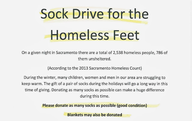 Sock Drive for the Homeless Feet