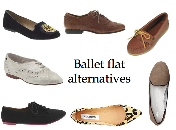 ballet flat alternatives, brogue, oxford, smoking slipper, loafer, moccasin