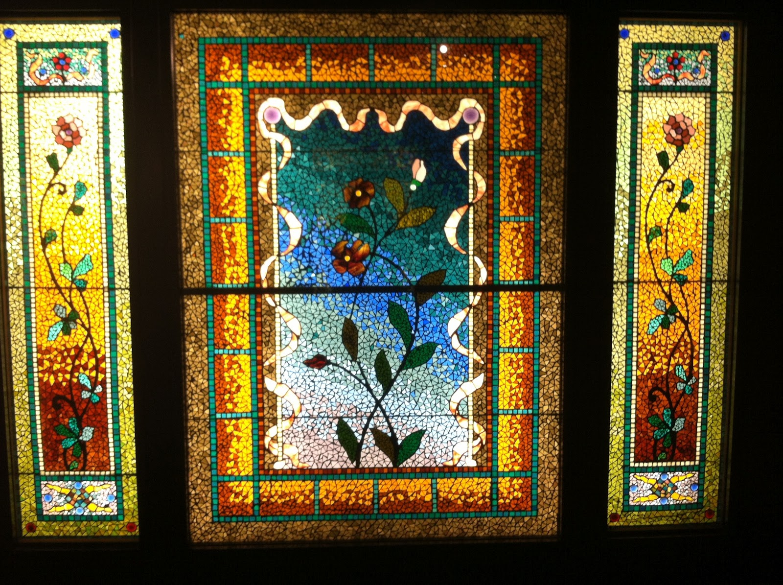 my first DIY: Stained Glass: Not just for church windows anymore