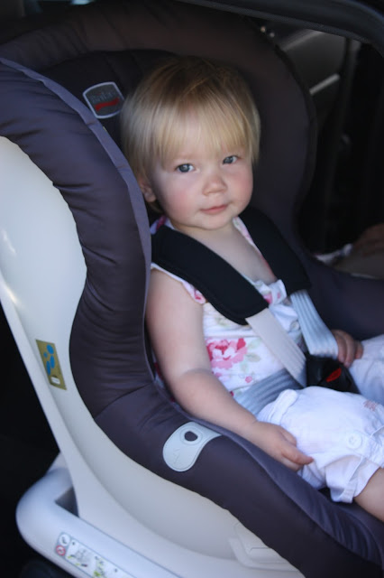 Britax MAX-FIX rear-facing car seat close up