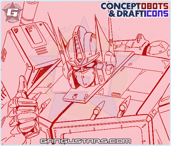 Optimus Prime Studio OX Transformers design sketch art スタジオOX トランスフォーマー タカラ