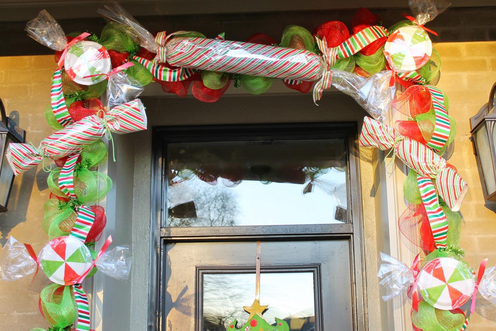 Candyland Christmas Door Decoration Ideas : Miss kopy kat make big candy decorations