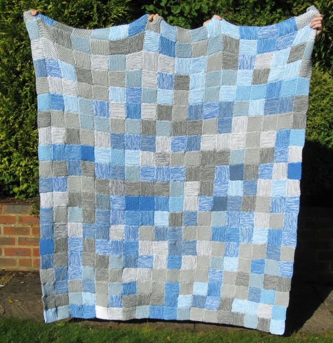 Bugs and Fishes by Lupin: How To Knit a Sky Blanket : knit quilt - Adamdwight.com