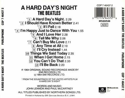 A Hard Day's Night - Album Beatles