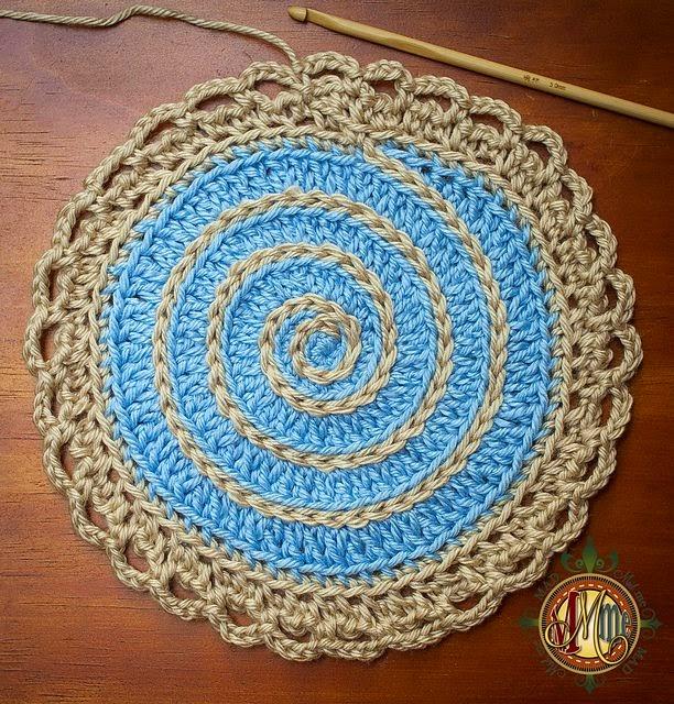 Idea para tejer en circulo a ganchillo