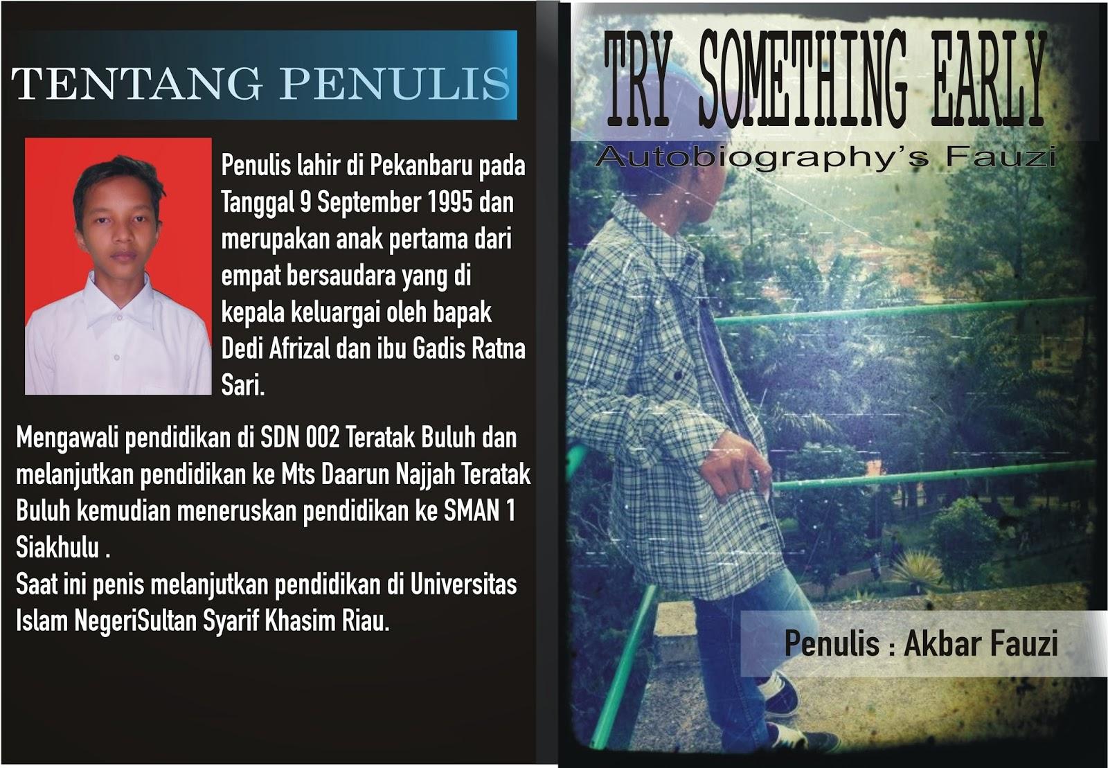Contoh Cover Buku Autobiografi