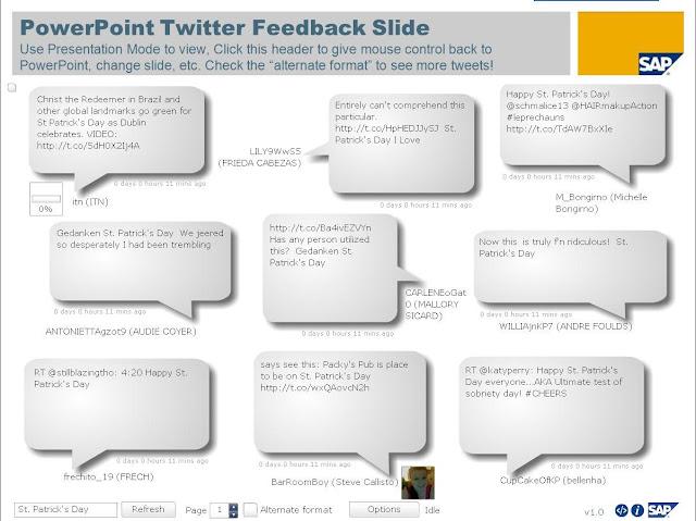 twitter in slide