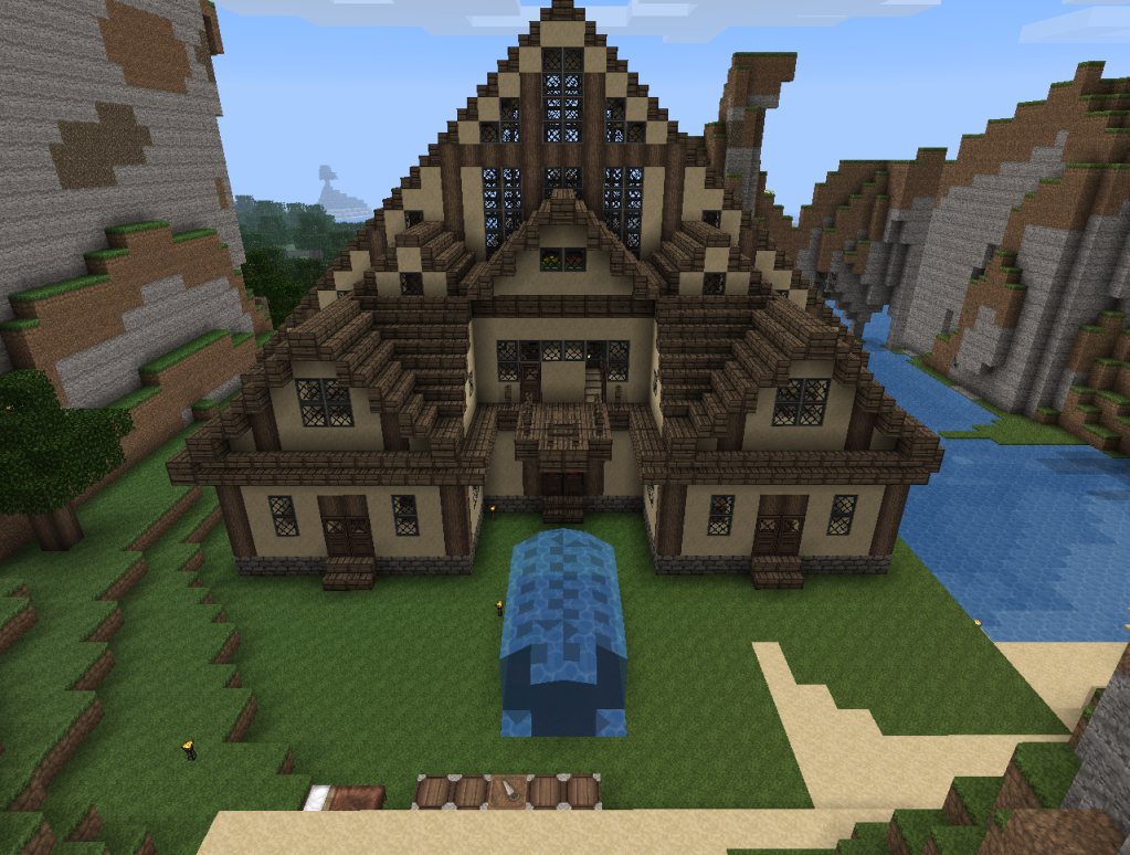 Minecraft Log Cabin ~ Anxiously engaged minecraft a game for all players