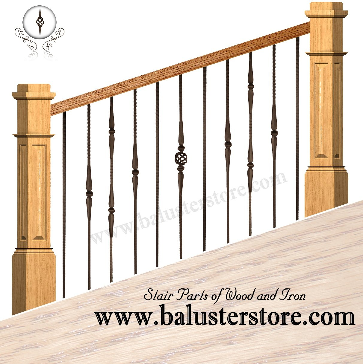 high quality iron stair parts